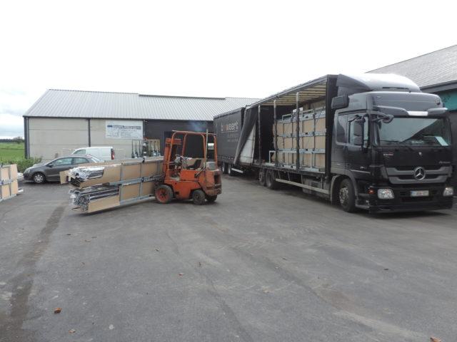 Les livraisons de profils de la flandre jusque dans nos ateliers en province du luxembourg